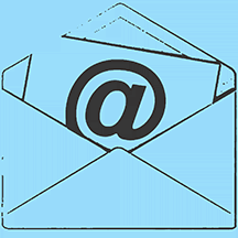 Icon depicting snail mail and email.
