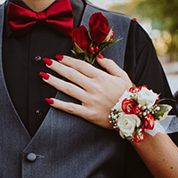 Corsage and boutonniere for a local Chi-Town Prom